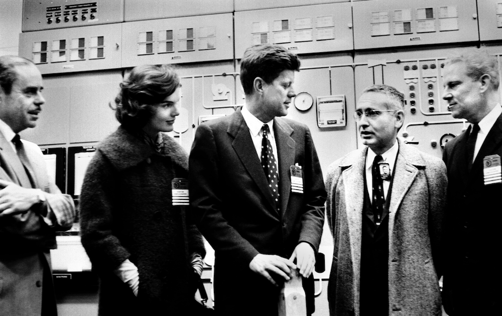 Senator John F. Kennedy and his wife Jackie visited the Oak Ridge Research Reactor