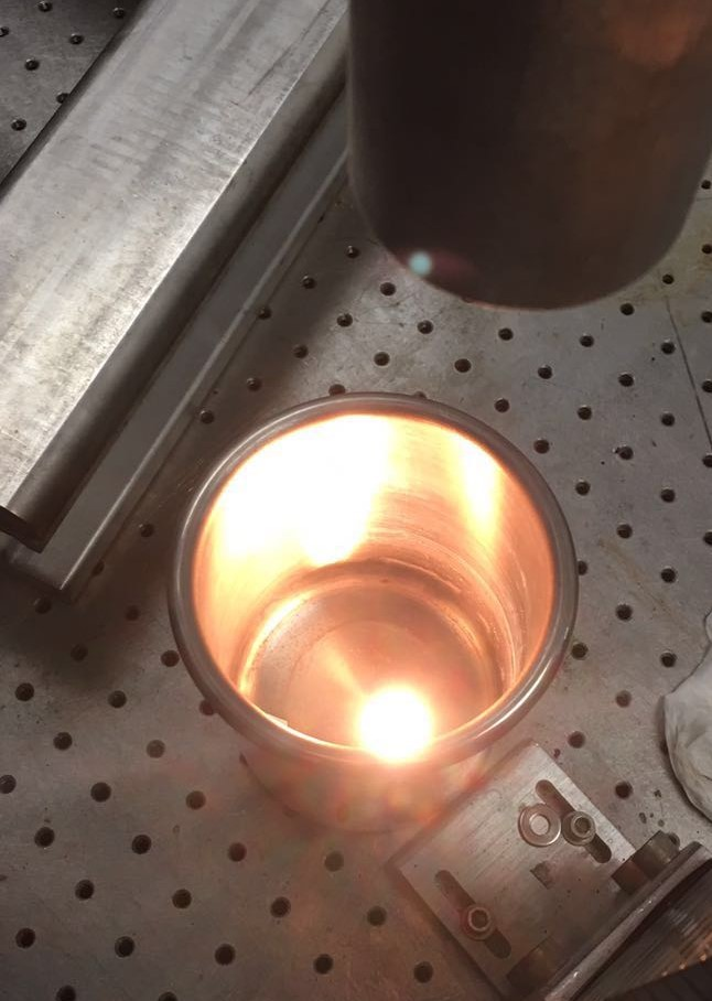 Similar to firing clay in a kiln, a laser is shown