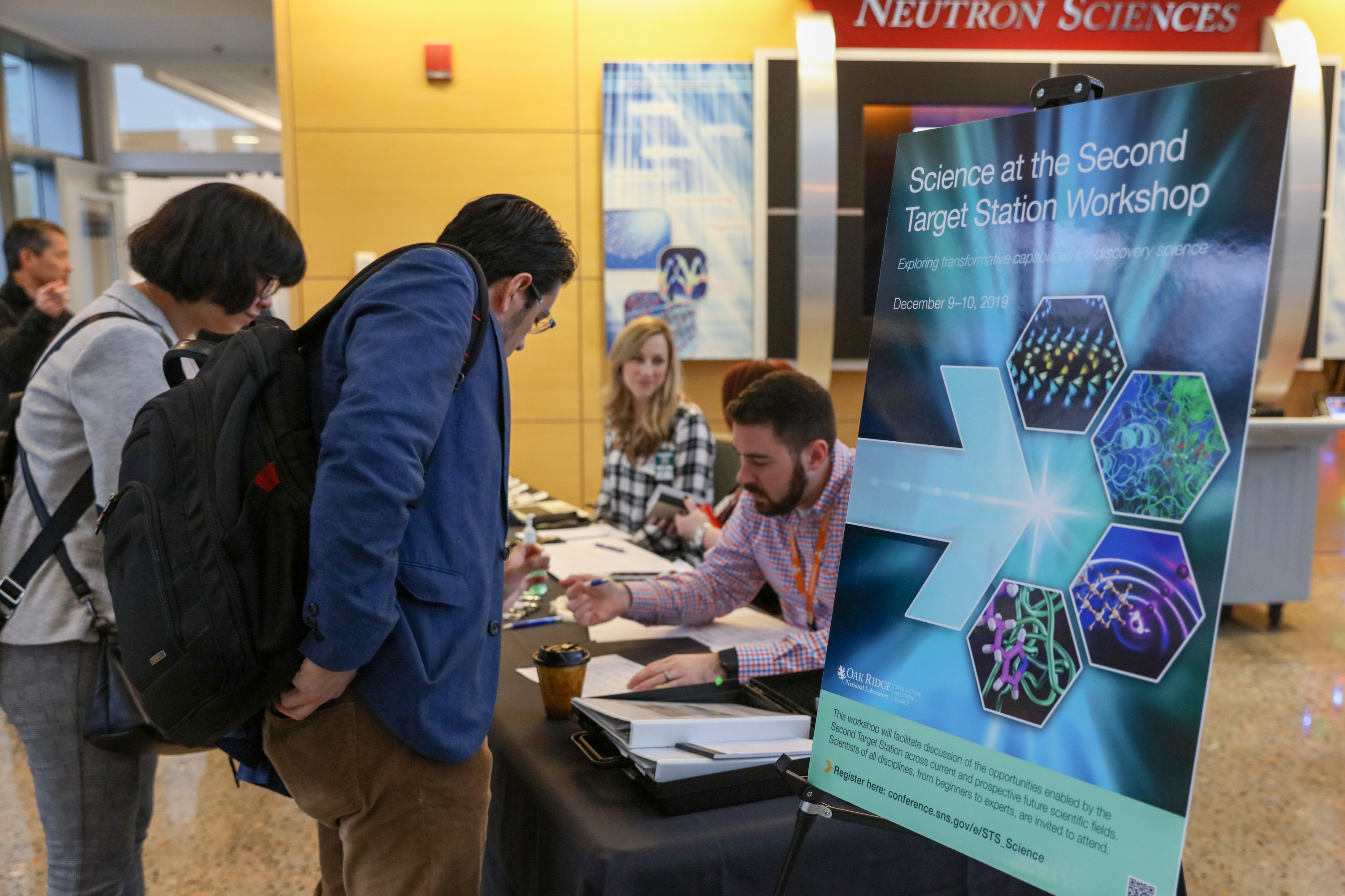 Nearly 300 members of the global neutron scattering community attended the Science at the 'Second Target Station' workshop, either onsite or remotely. Credit: ORNL/Genevieve Martin