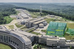 An artist's rendering of the proposed Second Target Station at ORNL's Spallation Neutron Source. Credit: Renee Manning/ORNL