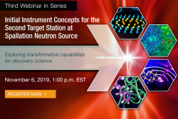 Webinar: Initial Instrument Concepts for Spallation Neutron Source Second Target Station