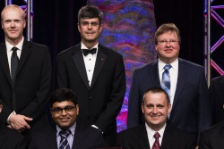 A team led by the Neutron Sciences Directorate's Arnab Banerjee received the ORNL Director's Award for Outstanding Team Accomplishment at the 2016 Awards Night. The team also includes Adam Aczel, Craig Bridges, Garrett Granroth, Mark Lumsden, David Mandrus, Stephen Nagler, Matthew Stone, Alan Tennant and Jiaqiang Yan.
