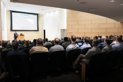 The 'Science at the Second Target Station' 2-day workshop was held at ORNL's Spallation Neutron Source central laboratory. Credit: ORNL/Genevieve Martin