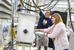 The recently commissioned 11 Tesla horizontal field magnet at GP-SANS will enable advanced neutron scattering research. Credit: Genevieve Martin/ORNL.