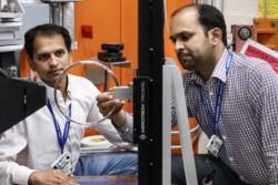 Timken researchers used neutron analysis to improve bearing manufacturing processes. (Image credit: ORNL/Genevieve Martin)