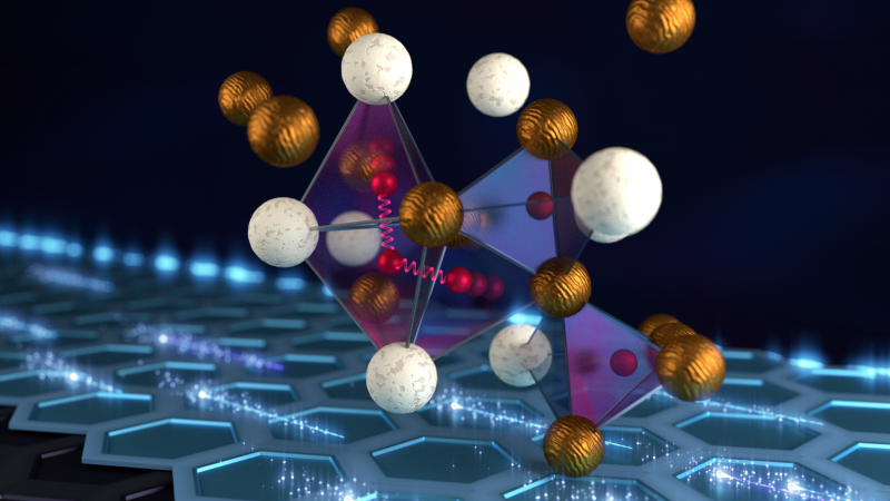 Smaller spacings between the atoms in a metal hydride might allow packing significantly more hydrogen into the material to a point where it begins to superconduct. Credit: ORNL/Jill Hemman
