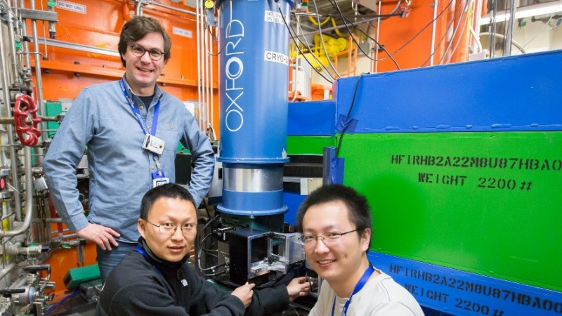 Georgia Tech's Martin Mourigal (left) and Xiaojian Bai (right), along with Florida State University'