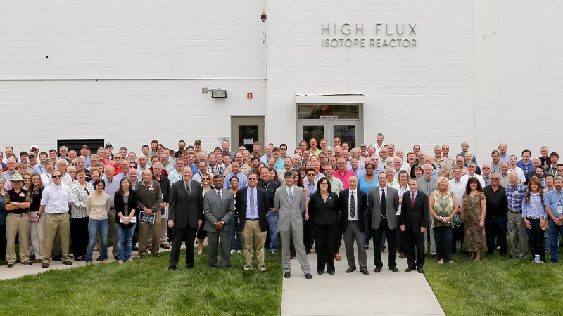 The High Flux Isotope Reactor marked its 50th year and its designation as an American Nuclear Society Nuclear Historic Landmark on Monday, April 13, at the HFIR complex.