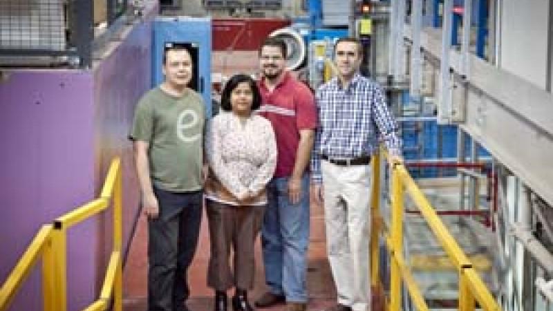 CNCS and POWGEN scientists, George Ehlers, Ashfia Huq, Matt Stone, and Jim Browning.