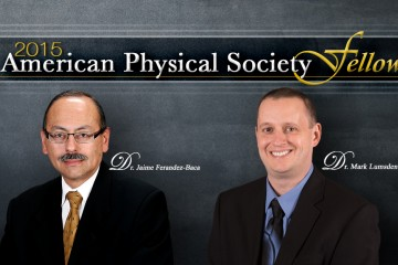 Jaime Fernandez-Baca and Mark Lumsden have been elected fellows of the American Physical Society.