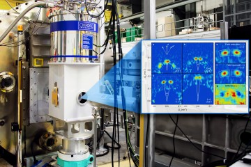 The team used the GP-SANS instrument at ORNL's High Flux Isotope Reactor to image the vortex lattice in UPt3 which revealed that this unconventional superconductor breaks time reversal symmetry. (Credit: ORNL/ Genevieve Martin, Morten Eskildsen)